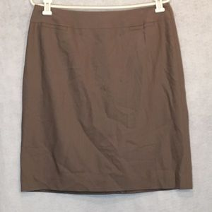 Talbots 12 Petite Skirt Brown Solid A Line Wool